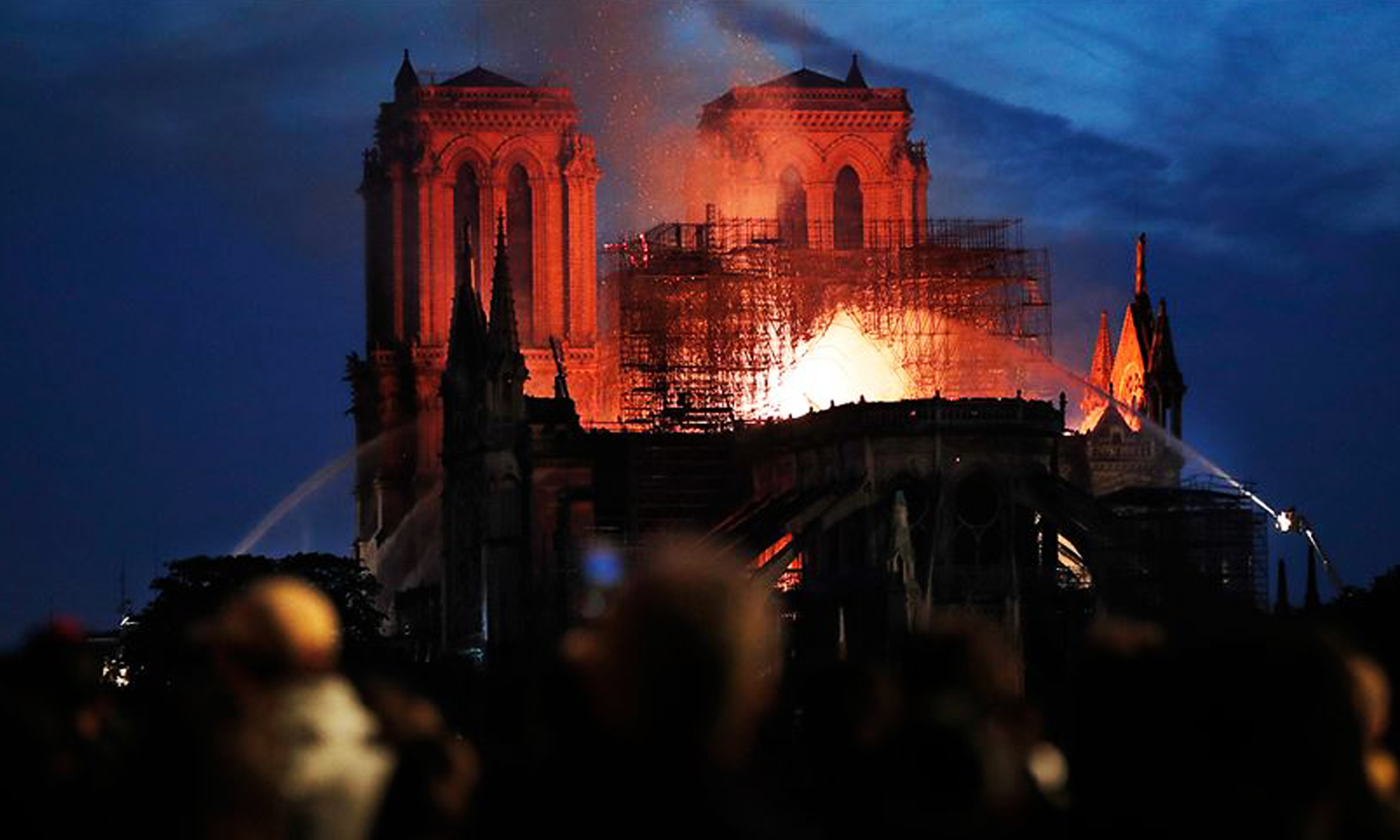 Fire breaks out in Notre Dame cathedral in Paris
