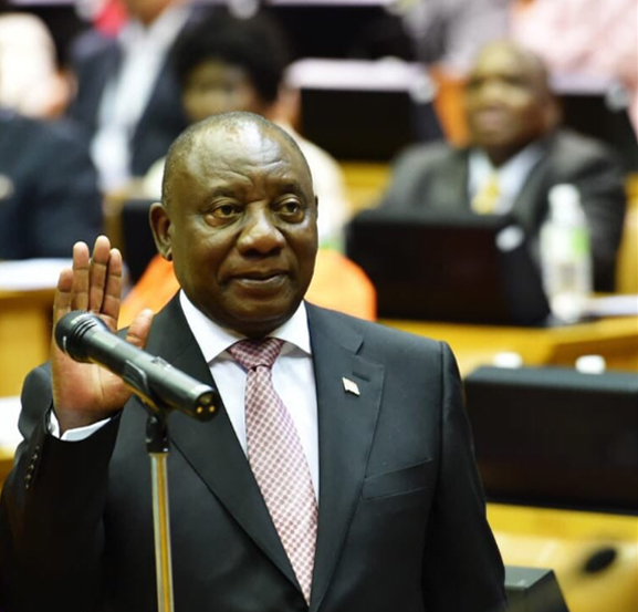 S. African parliament elects Cyril Ramaphosa president