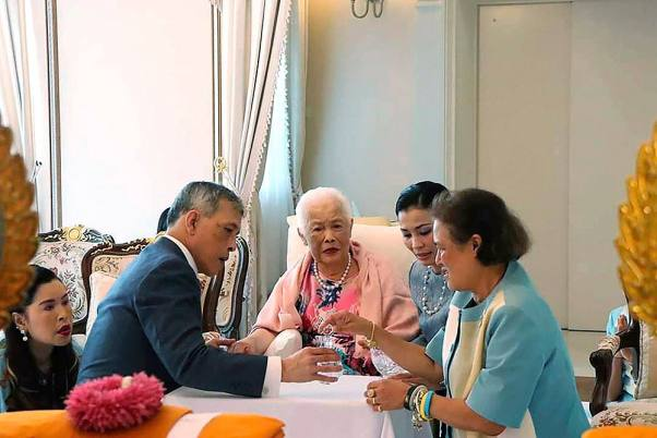 HM Queen Sirikit, The Queen Mother, makes merit on her 87th birthday anniversary