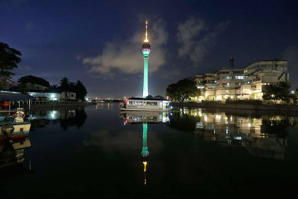 Illuminated Colombo Lotus Tower