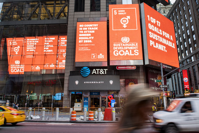 SDGs Showcased on Billboards in Times Square