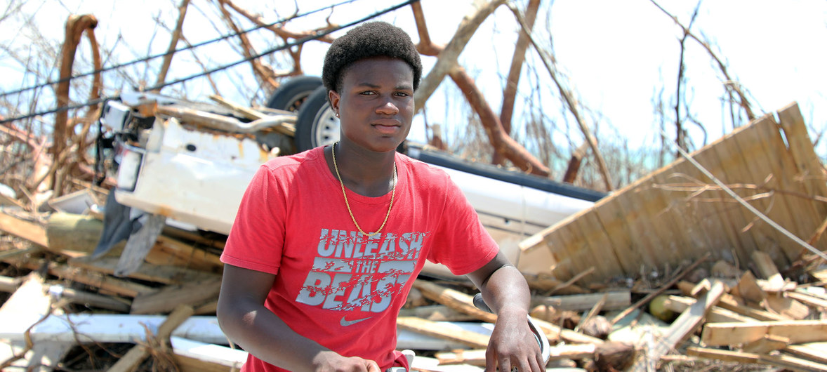 Help those who lost everything in Hurricane Dorian Picture of Fifteen-year-old Benson Etienne and his family escaped before their house collapsed in hurricane-hit Marsh Harbour, Abaco Island, Bahamas. Photo courtesy UN
