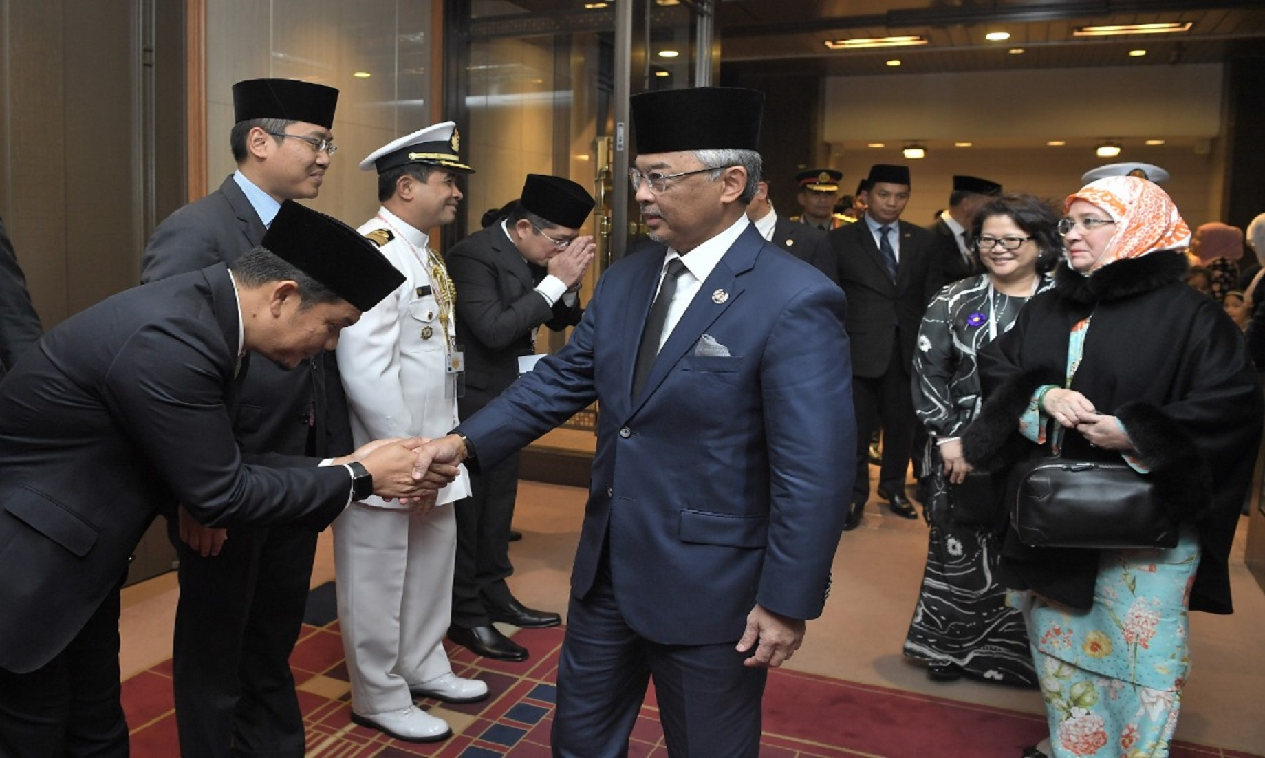 Malaysia's King and Queen arrive in Japan