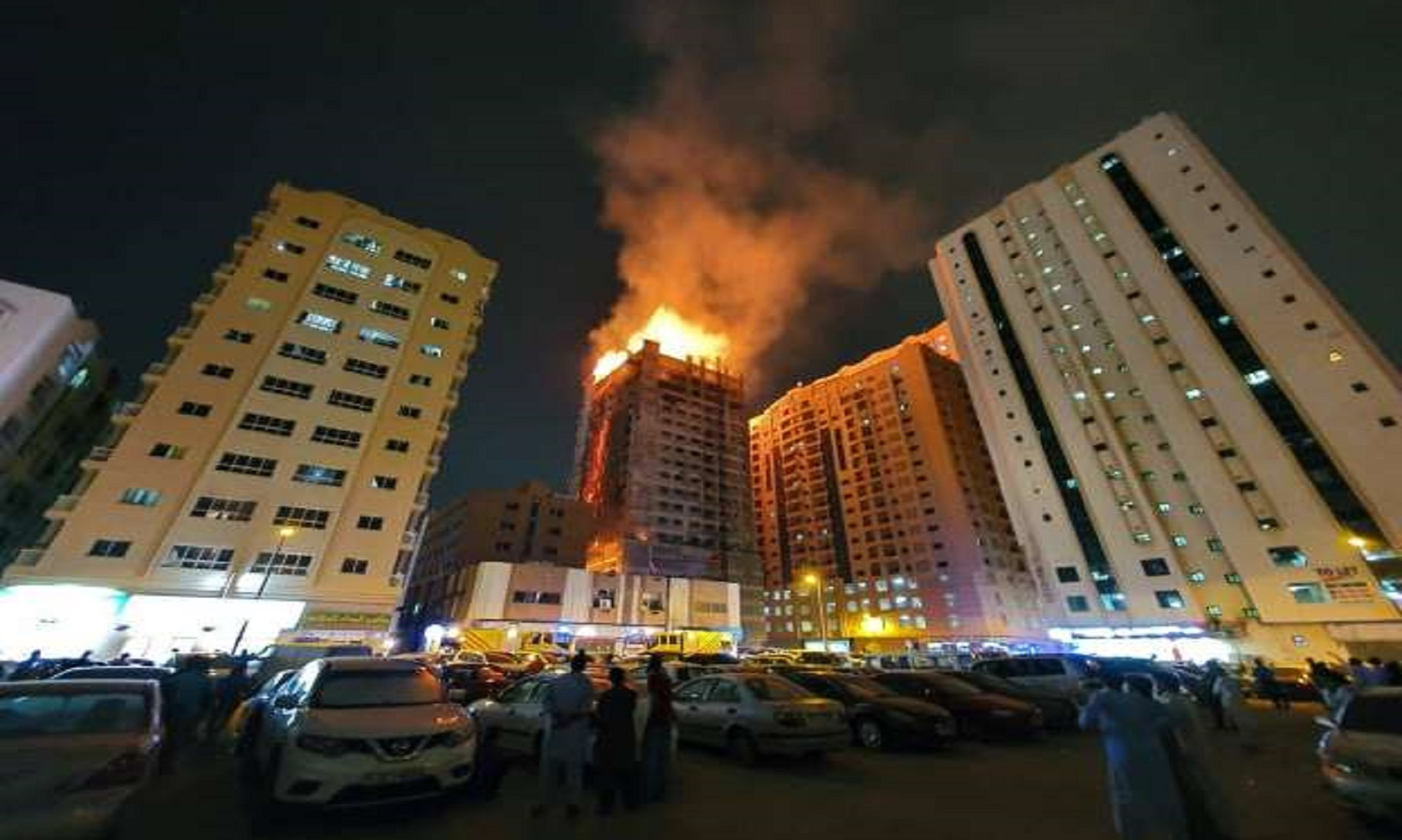 Fire Breaks Out In Under-Construction Sharjah Building