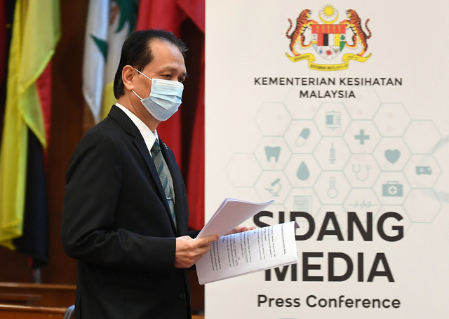 COVID: 15, 669 New Cases In Msia, Bringing Cumulative Number To Over 2 Mln – Health DG