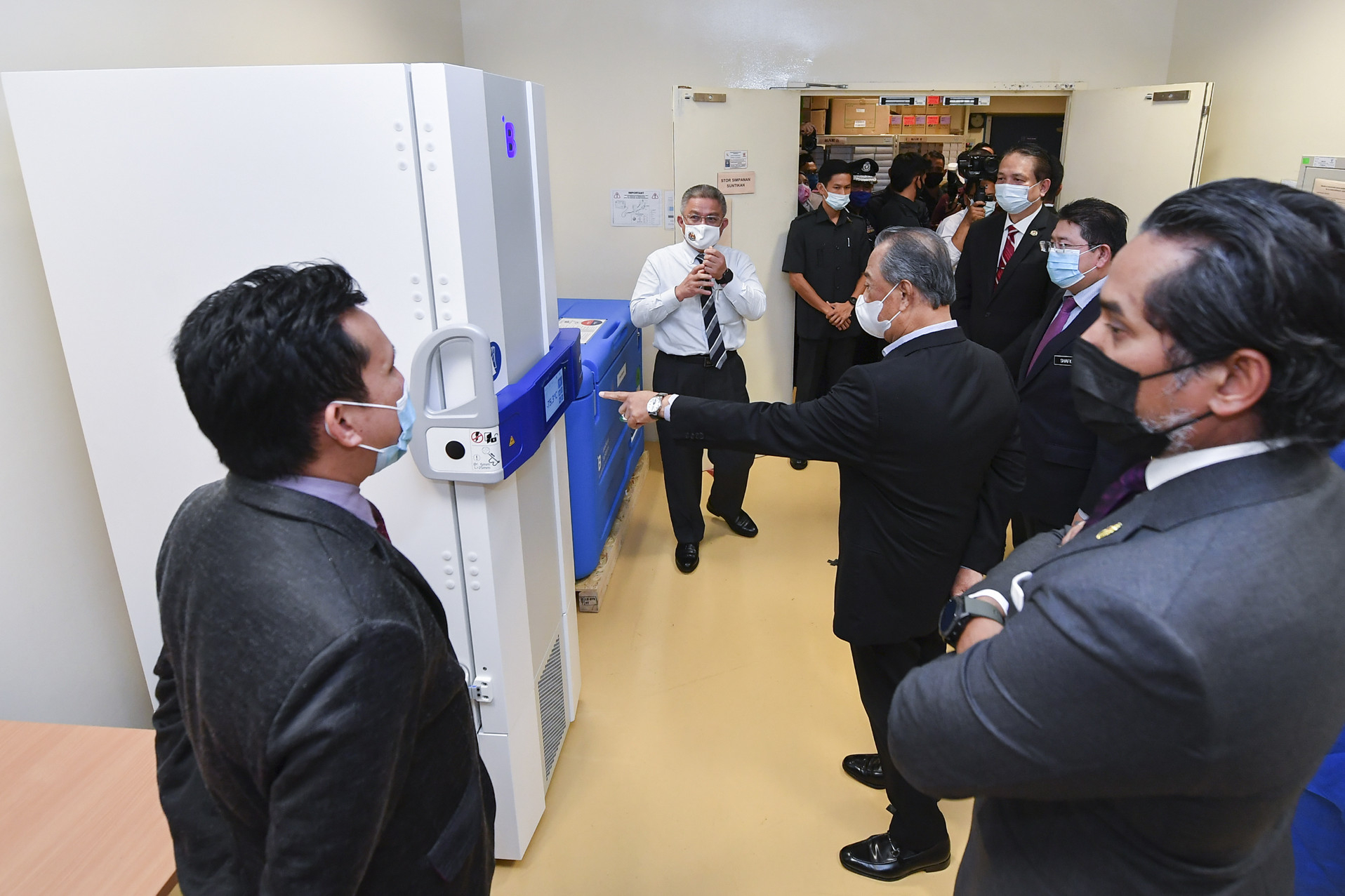 Malaysian PM Observes IKN's Preparations For Immunisation Programme