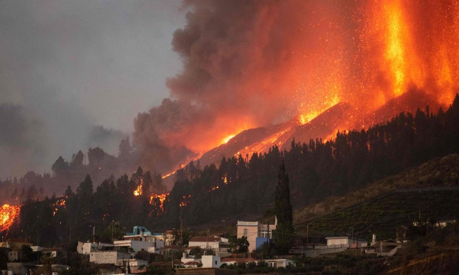 Over 5,000 People Evacuated As Volcano Erupts On Spain's La Palma Island