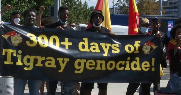 Ethiopia's Tigray crisis: Protest against abuses in Tigray region held at UNHCR's Geneva HQ