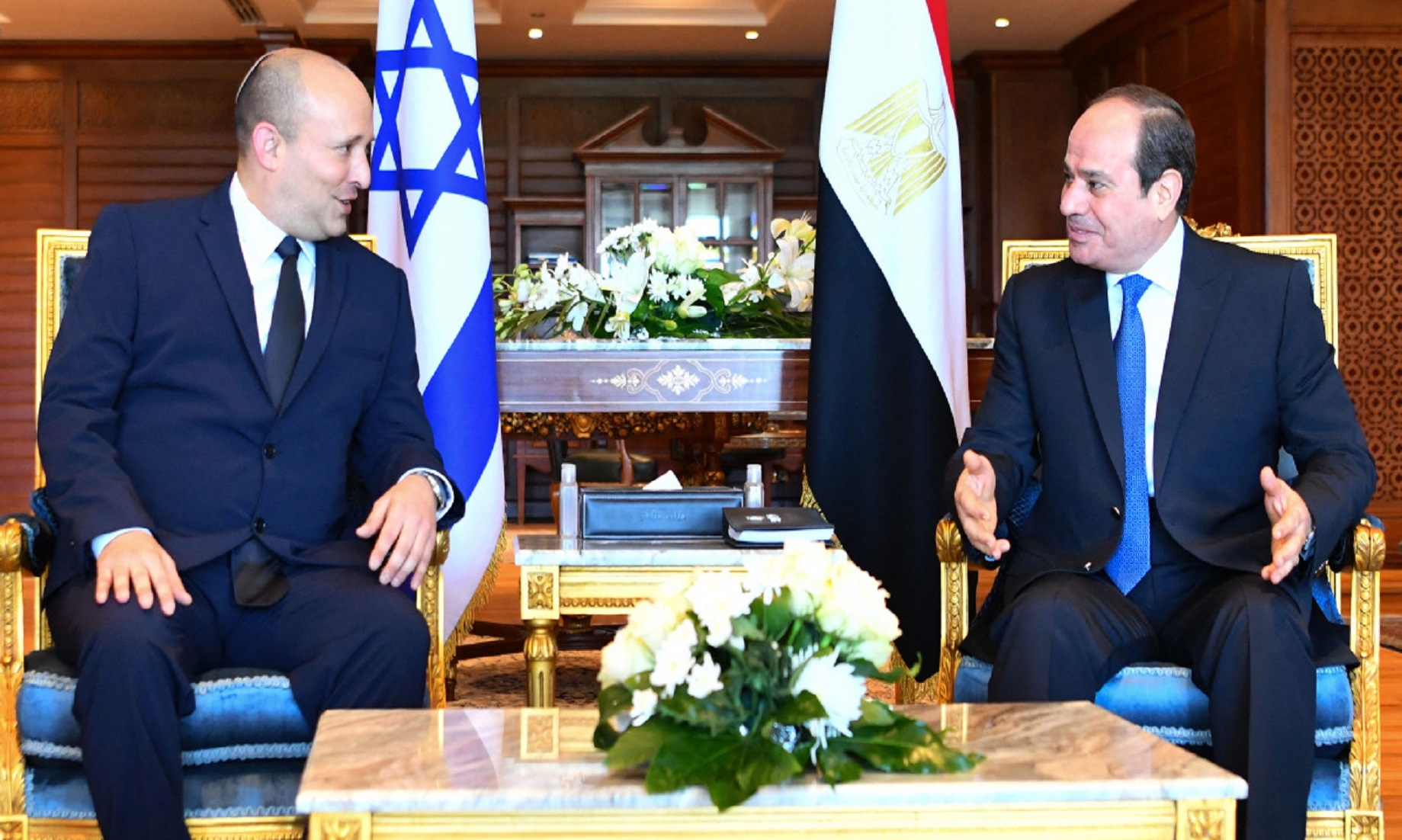 Egyptian President, Israeli PM Discuss Bilateral Ties, Palestinian Issue