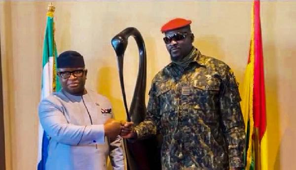 Sierra Leone president in Guinea, meets junta leader over security co-operation