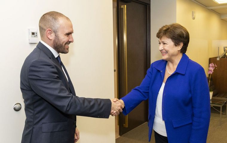 Argentine Economy Minister and IMF Director hold meeting in Washington DC